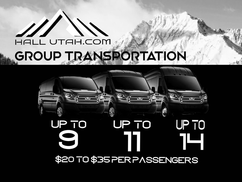 Group Van Shuttle Service to All Resorts including Park City Mountain Resort & Deer Valley.
